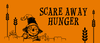 "Promotional graphic for the ""Scare Away Hunger"" volunteer event with Feeding America San Diego."