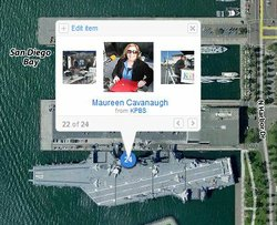 These Days broadcast live from the flight deck of the USS Midway on April 29, 2010, and posted photos during the show on Flickr.