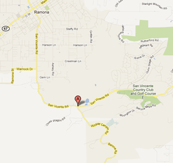 Brush Fire Burning Near Ramona