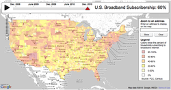 Broadband adoption map: South lags behind, rural areas improve