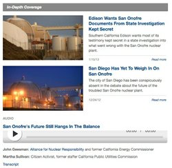 KPBS In-Depth Coverage Of The San Onofre Shutdown
