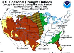 Climate Prediction Center seasonal drought outlook through May 31, 2012.