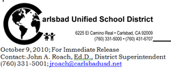 Statement From Carlsbad Unified Superintendent