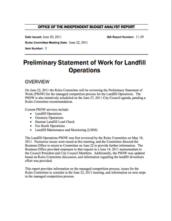 Report: Landfill Operations