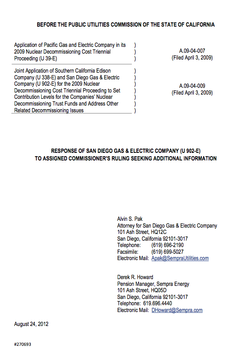 SDG&amp;E letter