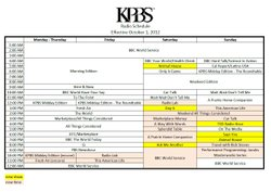 KPBS Radio Schedule - October 2012