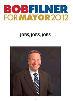 Filner's Jobs Plan