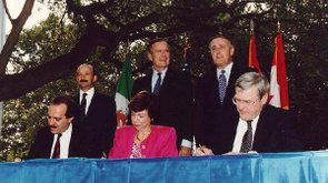 Tease photo: San Antonio Marks Its Role In NAFTA Signing