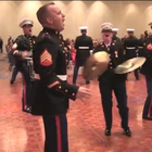 "The Third Marine Aircraft Wing Band, based at MCAS Miramar in San Diego, covered two Macklemore & Ryan Lewis songs at their recent Marine Corps Ball. Video of their performance of ""Thrift Shop"" and Can't Hold Us"" is going viral on YouTube, with more than 184,000 views so far."