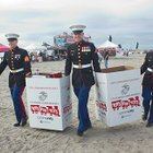 Camp Pendleton Marines will be on hand at this weekend's Western Surfing Association surf contest. They won't be there to catch waves, though, but to collect Toys for Tots gifts for children in need.