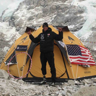 Camp Pendleton Marine veteran Staff Sgt. Charlie Linville, an amputee who lost his leg while disposing of an IED in Afghanistan, is safe on Mount Everest after a deadly avalanche there killed at least 13 people.