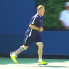 Todd Reed is far from your typical ball boy at this year's U.S. Open tennis tournament. For one thing, at 53-years-old, he's older than the rest of the boys (and girls). Reed is also a retired Green Beret who lost his leg during Desert Storm.