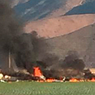 A Hawker Hunter MK-58 military jet crashed Wednesday in the Ventura County city of Port Hueneme, killing the pilot.
