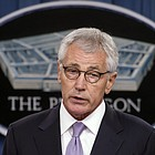 Hagel's resignation comes as the president's national security team has been battered by crises including the rise of Islamic State militants in Iraq and Syria and Russia's provocations in Ukraine.