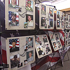 A traveling photo exhibit made a stop on Monday in the community of Alpine to honor military members who died in combat since the 9/11 terror attacks.