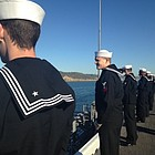 Commissioned in May 2012, the San Diego sailed 26,000 nautical miles while its sailors and Marines helped with air strikes against Islamic State targets.