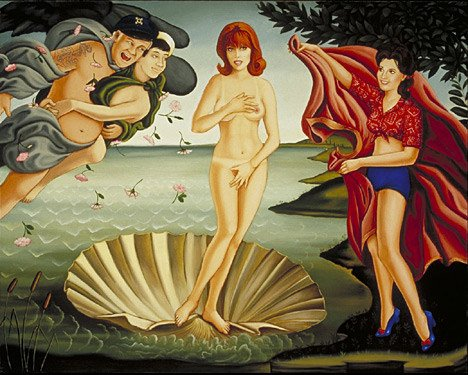 The Birth of Ginger, Oil on Wood, 16 x 20 inches, 2002