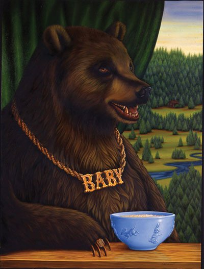 Baby Bear, Oil on Wood, 32 x 24 inches, 2008