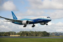 Boeing's 787 is designed for the environment with lower emissions and quieter takeoffs and landings.