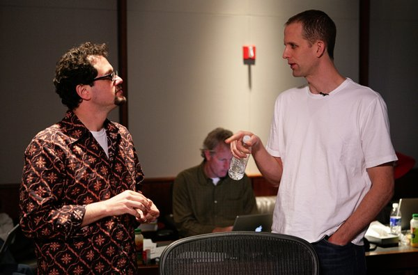 Director Peter Docter (right) with Up composer Michael Giacchino