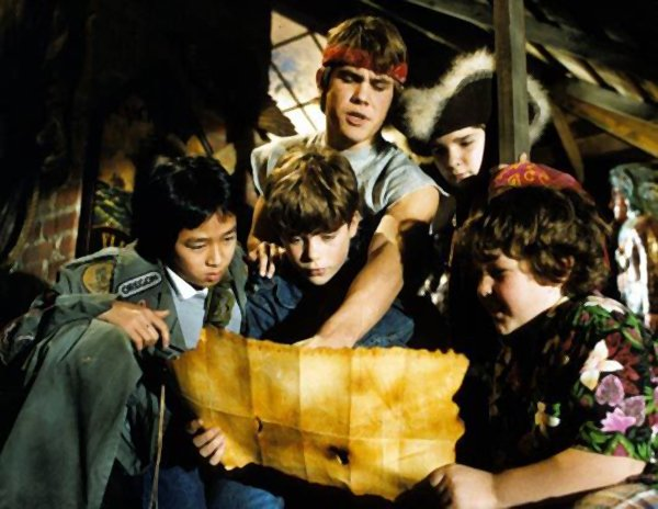 The Goonies with Josh Brolin (center back) is the next 80s film in Landmark's Midnight Madness Film Series at the Ken Cinema.
