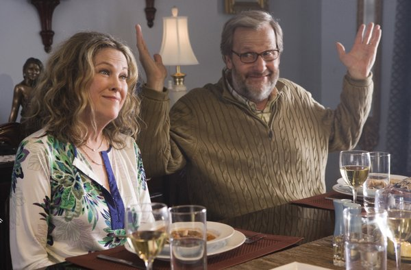 """Surprise!"" Catherine O'Hara and Jeff Daniels play grandparents who decide to leave the country before their granddaughter is born in ""Away We Go"""