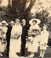 Wedding of George Leo Compo to Jean Scott Bergner.  Photo taken in Philadelphia, Pennsylvania on July 8, 1920.