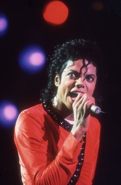 Michael Jackson performing on stage during his 'Bad' World Tour in Tokyo,Japan on the 14th of September 1987.