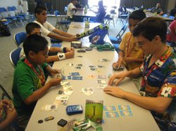 Young players compete in Sunday's Kids' Day Pokémon tournament at Comic-Con.