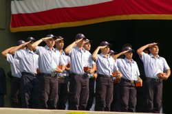 Mexican customs officials graduate from their training program. The Mexican government recently said they have doubled their customs officials at borders.