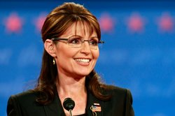 Sarah Palin speaks during the vice presidential debate at the Field House of Washington University's Athletic Complex on October 2, 2008 in St. Louis, Missouri.