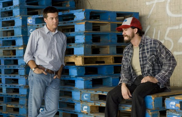 "Jason Bateman and Clifton Collins, Jr. in ""Extract"""
