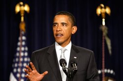 U.S. President Barack Obama gestures as he speaks on health insurance reform at the Eisenhower Executive Office Building of the White House on September 10, 2009 in Washington, DC. Obama continued the discourse, a day after he addressed the joint session of Congress, urging passage of his national health care plan.