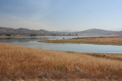 Sweetwater Reservoir, located in San Diego's East County.