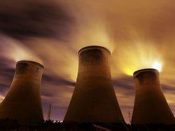 Coal-fueled power stations like this one in Warrington, United Kingdom, are said to be contributing to global warming. But e-mail messages stolen from a group of climate scientists recently are fodder for skeptics who say global warming is a plot, not a real problem.