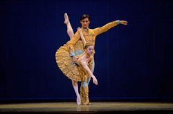 Maria Kochetkova and Davit Karapetyan dance the Grand Pas de Deux.