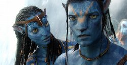 "Motion captured Na'ri in James Cameron's ""Avatar"" played by Zoe Saldana and Sam Worthington."