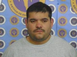 Luis Gilberto Snchez Guerrero, known as El Gil, is seen here after being arrested by Baja California&#39;s Preventive Police on December 29, 2009 in Tijuana.