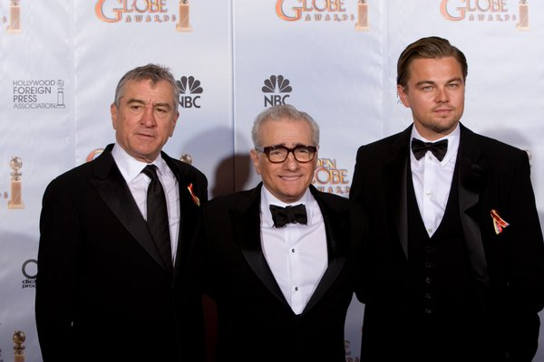 Robert DeNiro and Leonardo DiCaprio presented the Cecil B. DeMille Award to Martin Scorsese