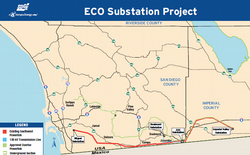 Map of SDG&E's proposed Eco Substation project.