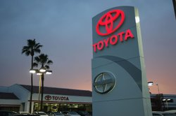A Southern California Toyota dealership on January 26, 2010. Japanese auto-makers have shut down plants in Japan following the recent earthquake and tsunami. It's not yet clear what the impact on local dealers will be.