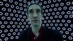 FRONTLINE correspondent Douglas Rushkoff at the USC Institute for Creative Technologies.