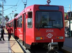 A San Diego trolley. 