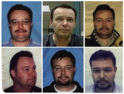 The faces of Guillermo Eduardo Ramirez Peyro through the ages, from various drivers licenses, a passport and a video of him in jail. To the U.S. government, he was officially informant No. 913, though most called him by the nickname Lalo.