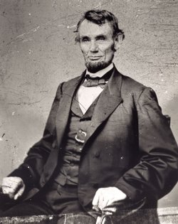 Abraham Lincoln, photographed at Mathew Bradys gallery by Anthony Berger.