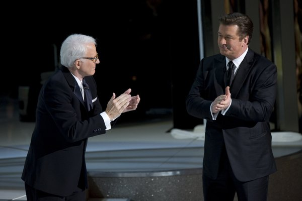Steve Martin and Alec Baldwin applauded each other cause no one else would.