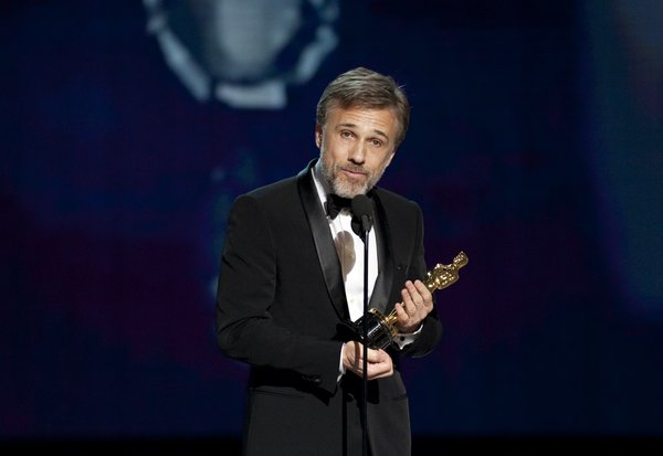 Best Supporting actor winner, Christoph Waltz