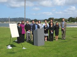 A coalition of 11 San Diego environmental groups announce results of first-ever Environmental Quality Report Card for San Diego Mayor and City Council on March 10, 2010.