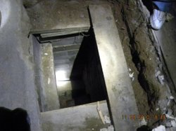 A suspected smuggling tunnel was discovered on the Mexico side of the border near Otay Mesa on March 11, 2010.