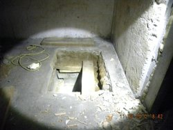 Mexican police discovered the tunnel's supposed entrance from a rectangle cut out of a bare, rough cement floor.